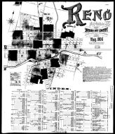Index Map and Street Index, Reno 1906